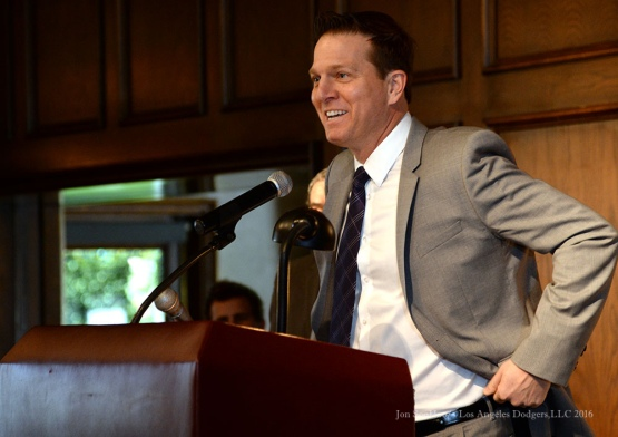 Patrick O'Neal--Southern California Sports Broadcasters Luncheon Monday, January 25, 2016 at Lakeside Country Club in Burbank,CA. Photo by Jon SooHoo/ © Los Angeles Dodgers,LLC 2016