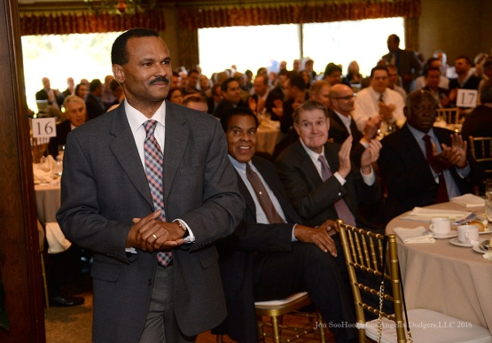 Jose Mota--Southern California Sports Broadcasters Luncheon Monday, January 25, 2016 at Lakeside Country Club in Burbank,CA. Photo by Jon SooHoo/ © Los Angeles Dodgers,LLC 2016