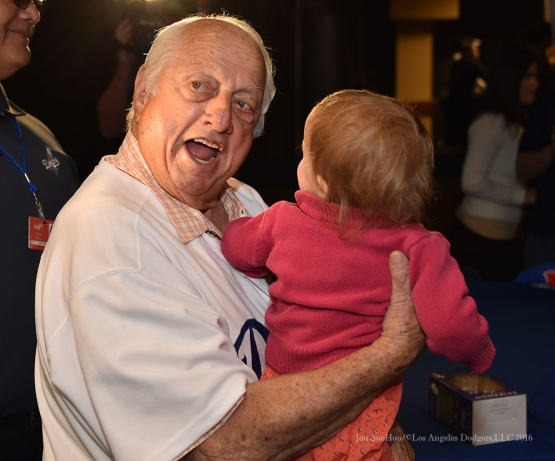 Tommy Lasorda--Los Angeles Dodgers Love LA Tour at the San Bernadino Law Enforcement Lunch in San Bernadino, California Wednesday, January 27, 2016. Photo by Jon SooHoo/©Los Angeles Dodgers,LLC 2016