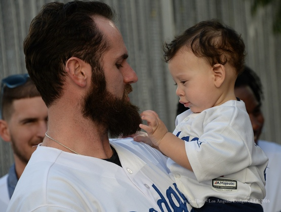 Scott Van Slyke---Los Angeles Dodgers Love LA Tour- Friday, January 29, 2016. Photo by Jon SooHoo/©Los Angeles Dodgers,LLC 2016