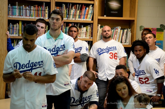 "Dodgers at ""A Place Called Home""--Los Angeles Dodgers Love LA Tour- Friday, January 29, 2016. Photo by Jon SooHoo/©Los Angeles Dodgers,LLC 2016"