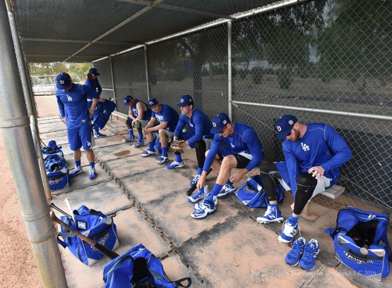 Los Angeles Dodgers during reporting day for pitchers and catchers Friday, February 19, 2016 at Camelback Ranch-Glendale in Phoenix, Arizona