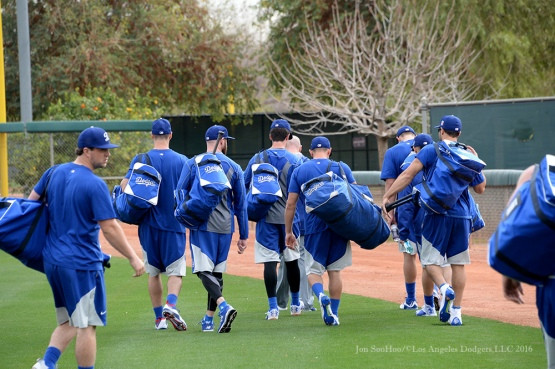 Los Angeles Dodgers reporting day for pitchers and catchers Friday, February 19, 2016 at Camelback Ranch-Glendale in Phoenix, Arizona