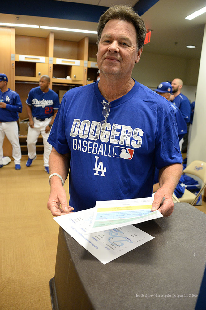 Los Angeles Dodgers Rick Honeycutt prior to pitchers and catchers workout Monday, February 22, 2016 at Camelback Ranch-Glendale in Phoenix, Arizona. Photo by Jon SooHoo/©Los Angeles Dodgers,LLC 2016