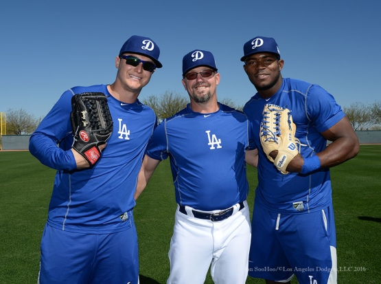 Los Angeles Dodgers pitchers and catchers workout Monday, February 22, 2016 at Camelback Ranch-Glendale in Phoenix, Arizona. Photo by Jon SooHoo/©Los Angeles Dodgers,LLC 2016