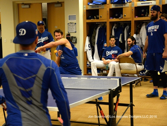 Los Angeles Dodgers Clayton Kershaw for the kill prior to workout Tuesday, February 23, 2016 at Camelback Ranch-Glendale in Phoenix, Arizona. Photo by Jon SooHoo/©Los Angeles Dodgers,LLC 2016