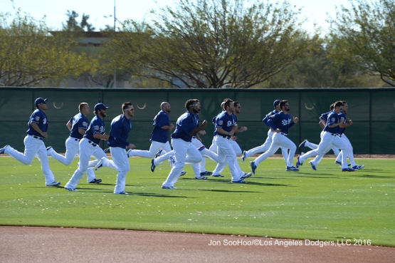 Los Angeles Dodgers workout Tuesday, February 23, 2016 at Camelback Ranch-Glendale in Phoenix, Arizona. Photo by Jon SooHoo/©Los Angeles Dodgers,LLC 2016