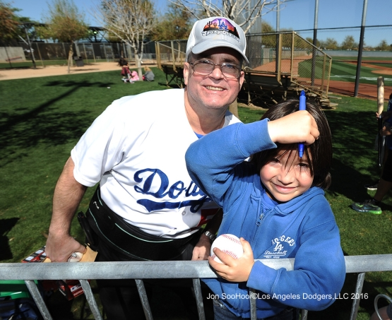 Los Angeles Dodgers workout Wednesday, February 24,2016 at Camelback Ranch-Glendale in Phoenix, Arizona.