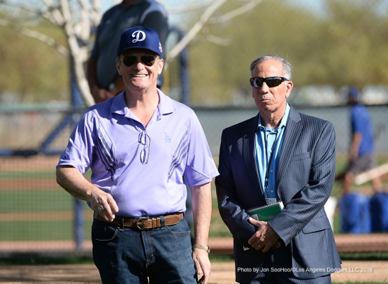 Los Angeles Dodgers workout Friday, February 26, 2016 at Camelback Ranch-Glendale in Phoenix, Arizona.