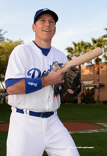 Los Angeles Dodgers A.J. Ellis  during photo day  Saturday, February 27, 2016 at Camelback Ranch-Glendale in Phoenix, Arizona.