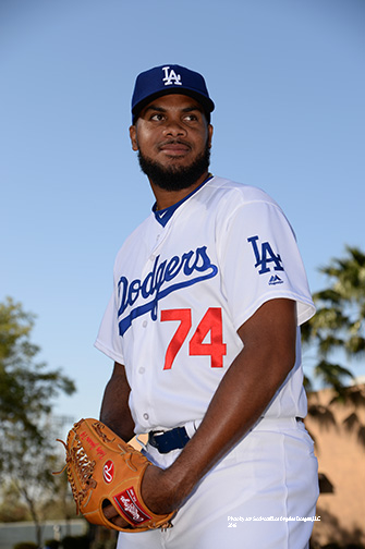 Los Angeles Dodgers Kenley Jansen during photo day Saturday, February 27, 2016 at Camelback Ranch-Glendale in Phoenix, Arizona.