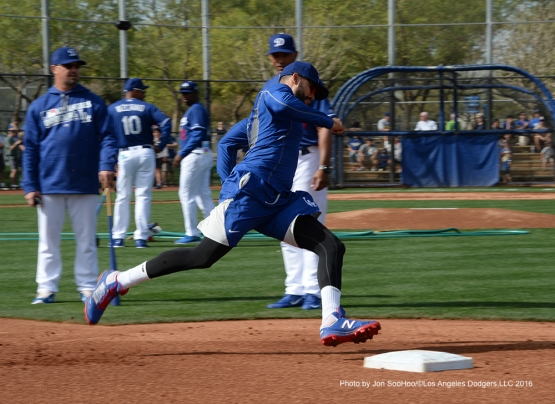 Los Angeles Dodgers Andre Ethier during workout Saturday, February 27, 2016 at Camelback Ranch-Glendale in Phoenix, Arizona.