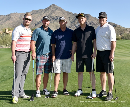 Golf withChris Anderson Eric Gagne, Greg Maddux, Kenta Maeda,  Rick Honeycutt Saturday, February 27, 2016 at Silver Leaf Country Club in Scottsdale, Arizona.