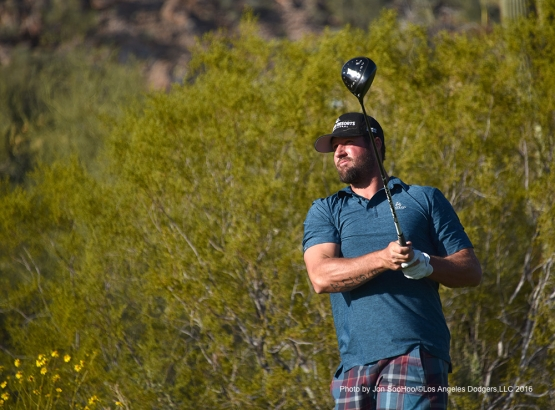 Golf with Eric Gagne Saturday, February 27, 2016 at Silver Leaf Country Club in Scottsdale, Arizona.