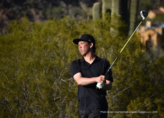 Golf with Kenta Maeda Saturday, February 27, 2016 at Silver Leaf Country Club in Scottsdale, Arizona.