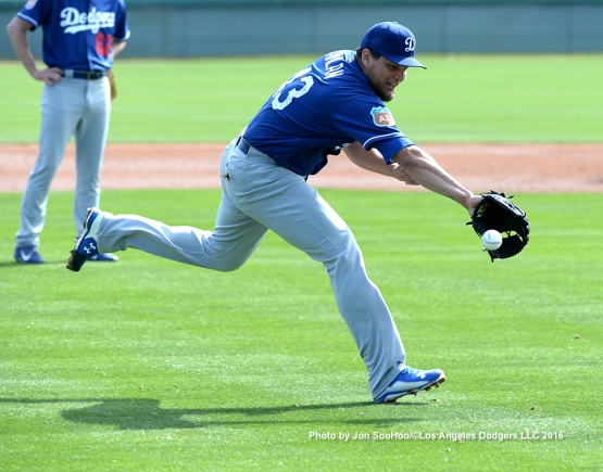 Los Angeles Dodgers Luis Avilan during workout Monday, February 29, 2016 at Camelback Ranch-Glendale in Phoenix, Arizona.