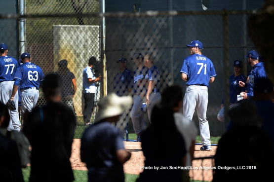Los Angeles Dodgers Josh Ravin during workout Monday, February 29, 2016 at Camelback Ranch-Glendale in Phoenix, Arizona.