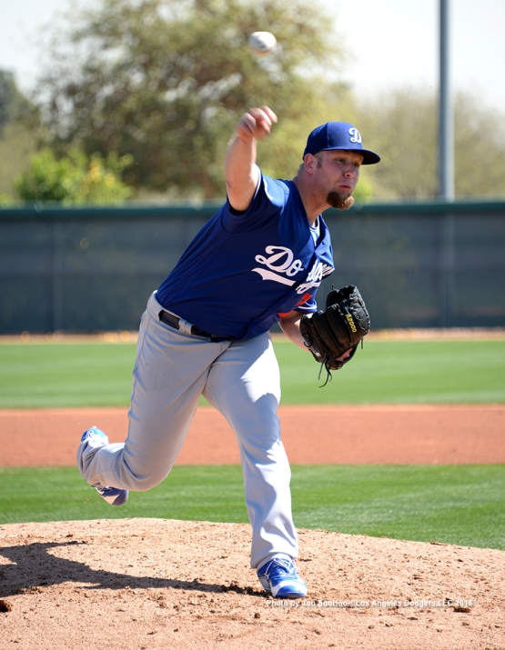 Los Angeles Dodgers Chris Anderson during workout Monday, February 29, 2016 at Camelback Ranch-Glendale in Phoenix, Arizona.