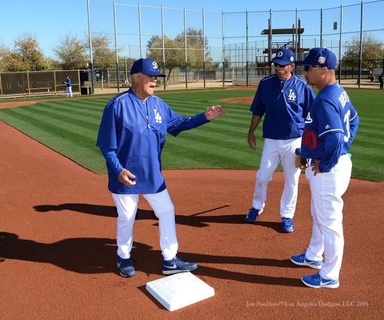 Los Angeles Dodgers first workout for pitchers and catchers Saturday, February 20, 2016 at Camelback Ranch-Glendale in Phoenix, Arizona. Photo by Jon SooHoo/©Los Angeles Dodgers,LLC 2016
