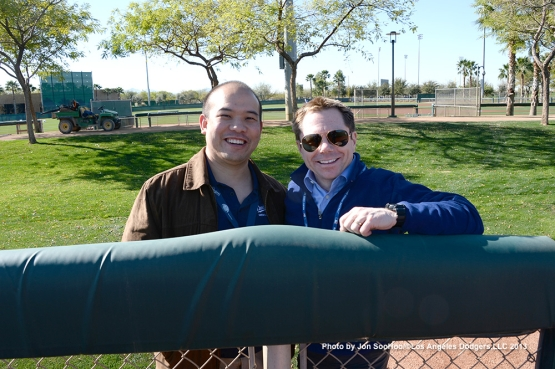 Los Angeles Dodgers Doctors Dr. Scott Takano and Dr.John Plosay first full squad workout Thursday, February 25, 2016 at Camelback Ranch-Glendale in Phoenix, Arizona.