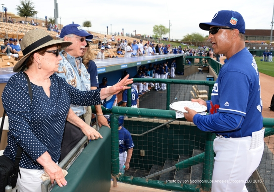 Los Angeles Dodgers Dave Roberts during game against the Chicago White Sox Thursday, March 3, 2016 at Camelback Ranch-Glendale in Phoenix, Arizona.