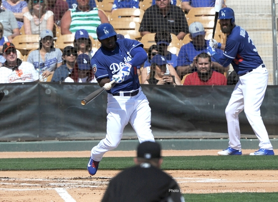 Los Angeles Dodgers during game against the Chicago White Sox Thursday, March 3, 2016 at Camelback Ranch-Glendale in Phoenix, Arizona.