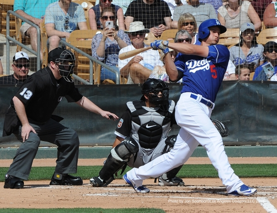 Los Angeles Dodgers Corey Seager during game against the Chicago White Sox Thursday, March 3, 2016 at Camelback Ranch-Glendale in Phoenix, Arizona.