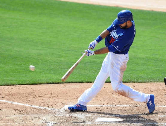 Los Angeles Dodgers Andre Ethier during game against the Chicago White Sox Thursday, March 3, 2016 at Camelback Ranch-Glendale in Phoenix, Arizona.