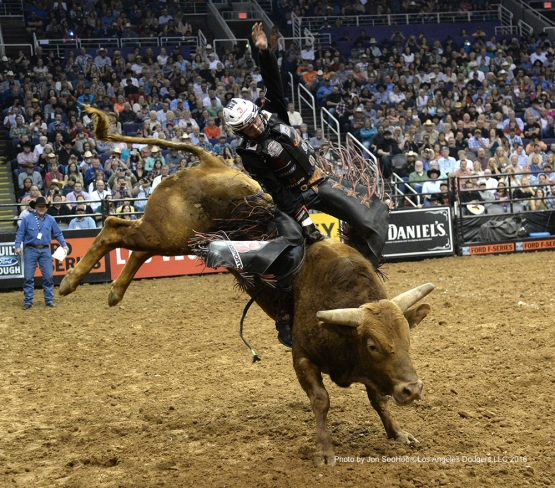 Los Angeles Dodgers visit Professional Bull Riders Saturday, March 5, 2016 at Talking Stick Arena