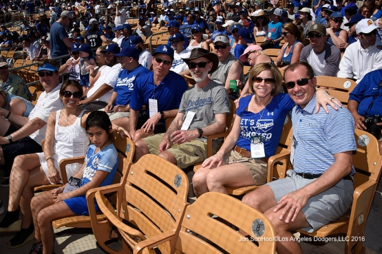 Great Los Angeles Dodgers fans during game against the Chicago White Sox Saturday, March 19,2016 at Camelback Ranch-Glendale in Phoenix, Arizona.