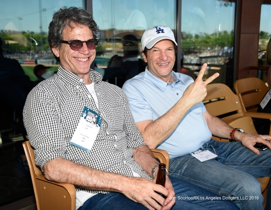 Los Angeles Dodgers Peter Guber during game against the Chicago White Sox Saturday, March 19,2016 at Camelback Ranch-Glendale in Phoenix, Arizona.