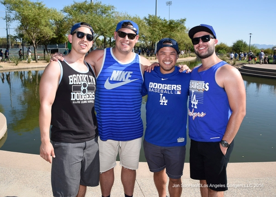 Los Angeles Dodgers during game against the Chicago White Sox Saturday, March 19,2016 at Camelback Ranch-Glendale in Phoenix, Arizona.