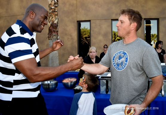 Los Angeles Dodgers A.J. Ellis and Magic Johnson Family Picnic Saturday, March 19,2016 at Camelback Ranch-Glendale in Phoenix, Arizona.