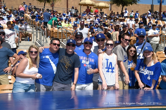 Los Angeles Dodgers during game against the San Diego Padres Sunday, March 20, 2016 at Camelback Ranch-Glendale in Phoenix, Arizona.
