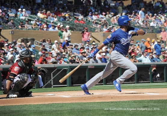 Los Angeles Dodgers Andre Ethier during game against the Arizona Diamondback Friday, March 18,2016 at Salt River Fields at Talking Stick