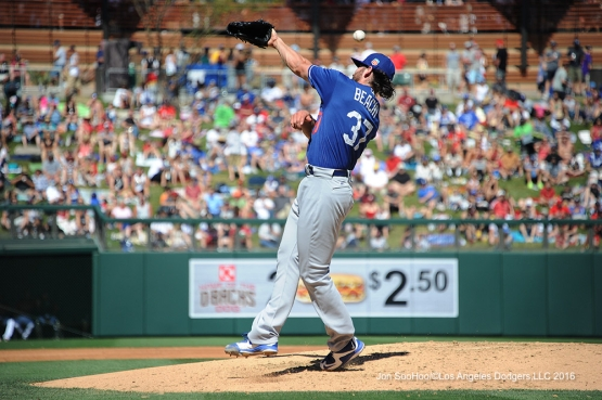 Los Angeles Dodgers during game against the Arizona Diamondback Friday, March 18,2016 at Salt River Fields at Talking Stick