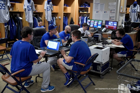 Los Angeles Dodgers prior to game against the San Diego Padres Monday, April 4, 2016 at Petco Park in San Diego,California. The Dodgers beat the Padres 15-0