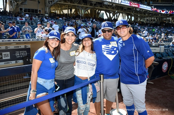 Los Angeles Dodgers Kike Hernandez and family prior to game against the San Diego Padres Monday, April 4, 2016 at Petco Park in San Diego,California. The Dodgers beat the Padres 15-0