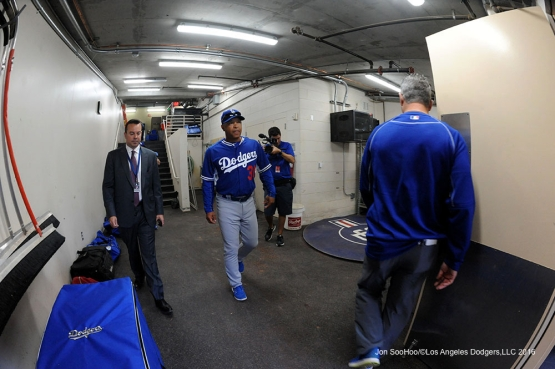 Los Angeles Dodgers Dave Roberts prior to game against the San Diego Padres Monday, April 4, 2016 at Petco Park in San Diego,California. The Dodgers beat the Padres 15-0