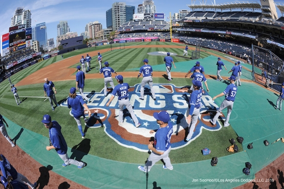 Opening Day between the Los Angeles Dodgers and the San Diego Padres Monday, April 4, 2016 at Petco Park in San Diego,California. The Dodgers beat the Padres 15-0
