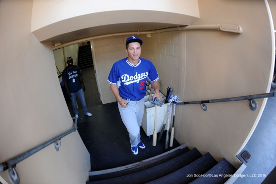 Los Angeles Dodgers Corey Seager prior to the game against the San Diego Padres Monday, April 4, 2016 at Petco Park in San Diego,California. The Dodgers beat the Padres 15-0
