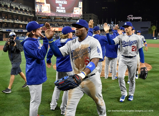 Los Angeles Dodgers win against the San Diego Padres Tuesday, April 5, 2016 at Petco Park in San Diego,California. The Dodgers beat the Padres 3-0