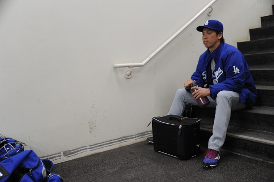 Los Angeles Dodgers Kenta Maeda prior to game against the San Diego Padres Wednesday, April 6, 2016 at Petco Park in San Diego,California. The Dodgers beat the Padres