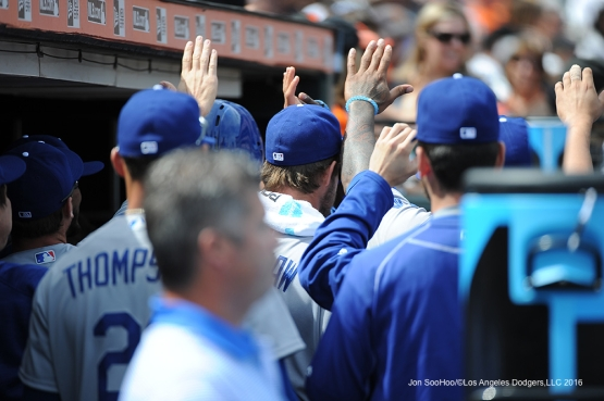 Los Angeles Dodgers during game against the San Francisco Giants Thursday, April 7, 2016 at AT&T Park in San Francisco,California.