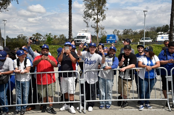 Vin Scully Avenue Dedication Monday, April 11, 2016 at Dodger Stadium in Los Angeles,California.