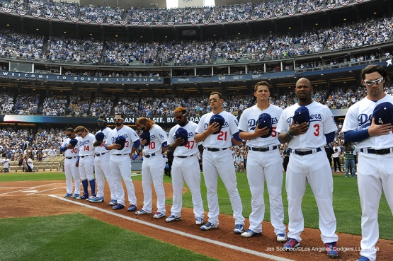 Los Angeles Dodgers during game against the Arizona Diamondbacks Tuesday, April 12, 2016 at Dodger Stadium.