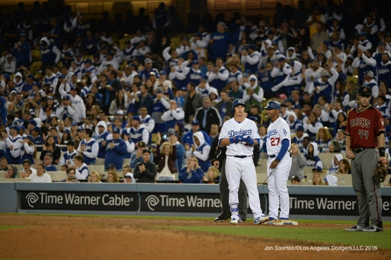Los Angeles Dodgers during game against the Arizona Diamondbacks Wednesday, April 13, 2016 at Dodger Stadium.