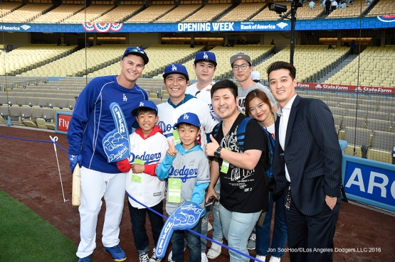 Los Angeles Dodgers prior to game against Arizona Diamondbacks Thursday, April 14, 2016 at Dodger Stadium.