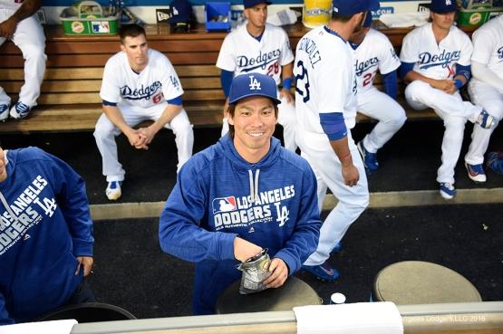 Los Angeles Dodgers prior to game against Arizona Diamondbacks Thursday, April 14, 2016 at Dodger Stadium.