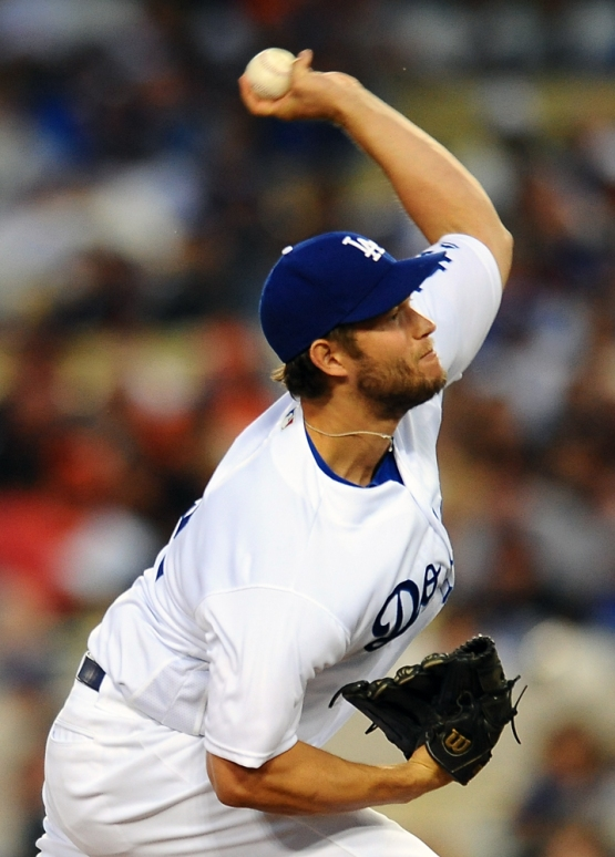 Clayton Kershaw started the game against the Giants.